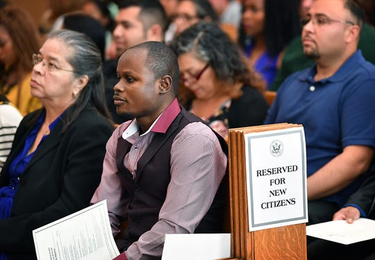 Forty applicants took the Oath of Allegiance to the United States during a large Naturalization Ceremony in the U.S. District Court, Northern District of Texas, Wichita Falls Division Friday.