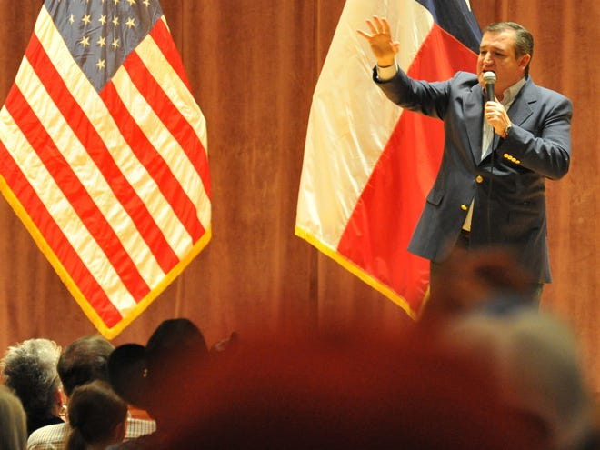 Texas Senator, Ted Cruz spoke to a crowd during his re-election stop at Midwestern State University in Wichita Falls Thursday evening.