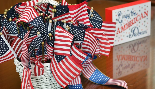 U.S. flags and colorful decorations brightened up the courtroom of the U.S. District Court of the Northern District of Texas, Wichita Falls Division during a Naturalization Ceremony Friday.