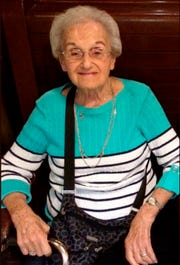 This undated family photo provided by the University of Pittsburgh Medical Center (UPMC) shows Rose Mallinger, 97, who was one of the people killed on Oct. 27, 2018, at Pittsburgh's Tree of Life synagogue.