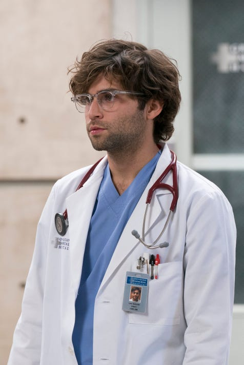 Actor Jake Borelli, who plays Dr. Levi Schmitt on