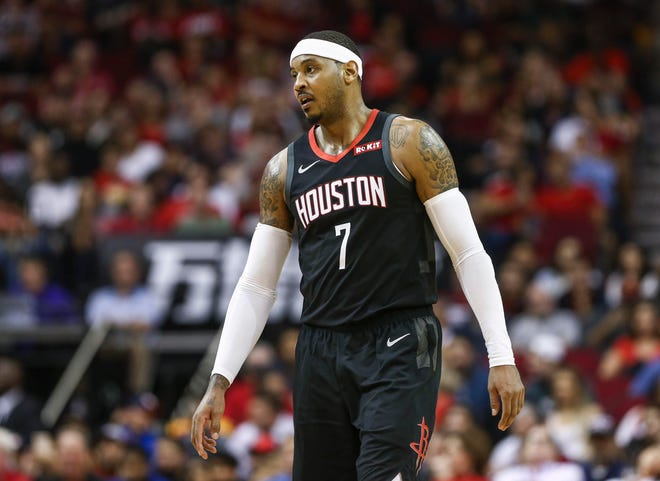 Forward Carmelo Anthony, a newcomer in Houston, and the Rockets are 1-5.