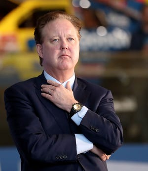 Brian France was arrested on suspicion of driving while intoxicated and unlawfully possessing a controlled substance in Sag Harbor, N.Y., in August.