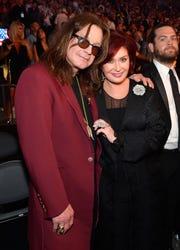 Ozzy and Sharon Osbourne in Las Vegas on Aug. 26, 2017.