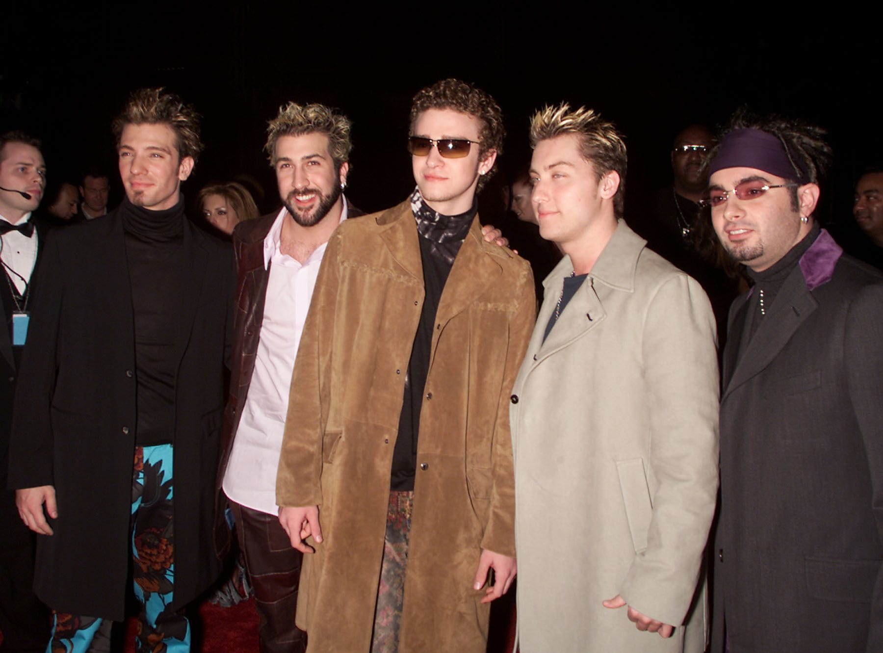N'SYNC arrives at the 27th Annual People's Choice Awards at the Pasadena Civic Auditorium in Pasadena, California, Sunday January 7, 2001. Photo by Kevin Winter/ImageDirect