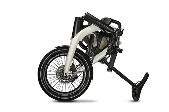 General Motors Designed This Electric Bicycle Which Folds Up For Portability Especially Urban