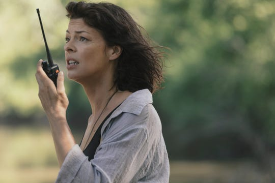 Anne (Pollyanna McIntosh), or is it Jadis again, becomes intertwined in Rick Grimes' saga as he attempts to escape the survivors on AMC's 'The Walking Dead.'