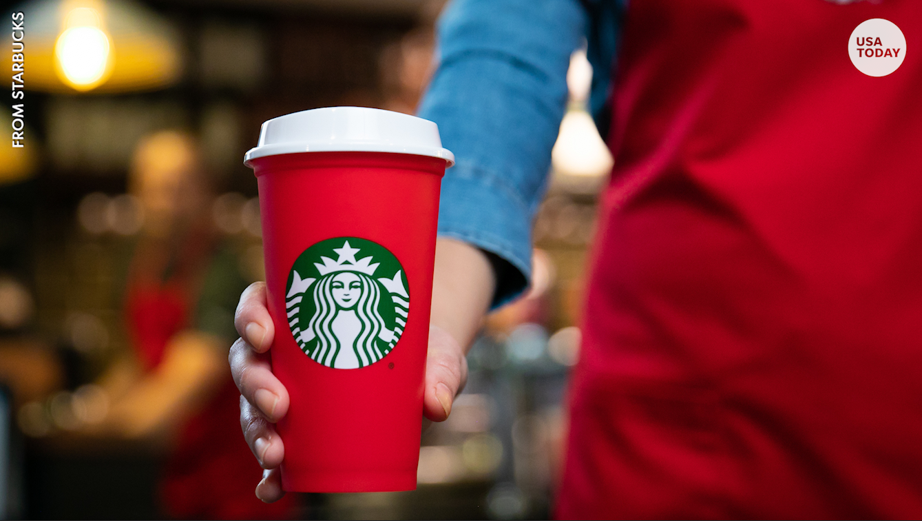 Starbucks Christmas Cups.Starbucks Unveils Reusable Holiday Cup