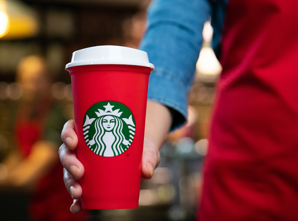 Starbucks unveils reusable holiday cup