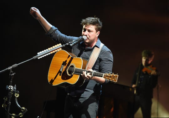 """Marcus Mumford of Mumford & Sons performs onstage during the Firefly Music Festival in 2016. The band's new album """"Delta"""" is out Friday."""
