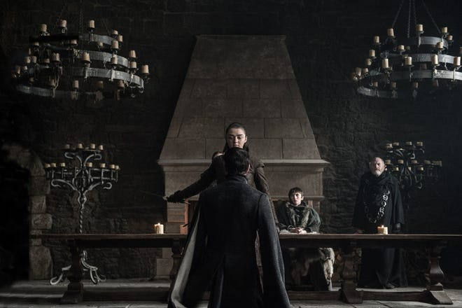 Don't President Trump and his social media team know better than to mess with Arya Stark (Maisie Williams)? Just ask the late Petyr Baelish.