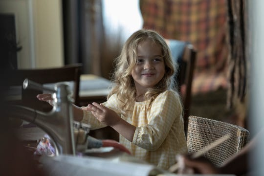 Toddler Judith (Chloe Garcia-Frizzi) undergoes quite the transformation by the end of Sunday's episode of AMC's 'The Walking Dead.'