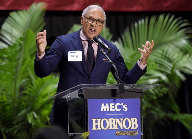 Democratic Senate candidate Mike Espy speaks at the Mississippi Coliseum in Jackson, Mississippi, on Nov. 1, 2018.