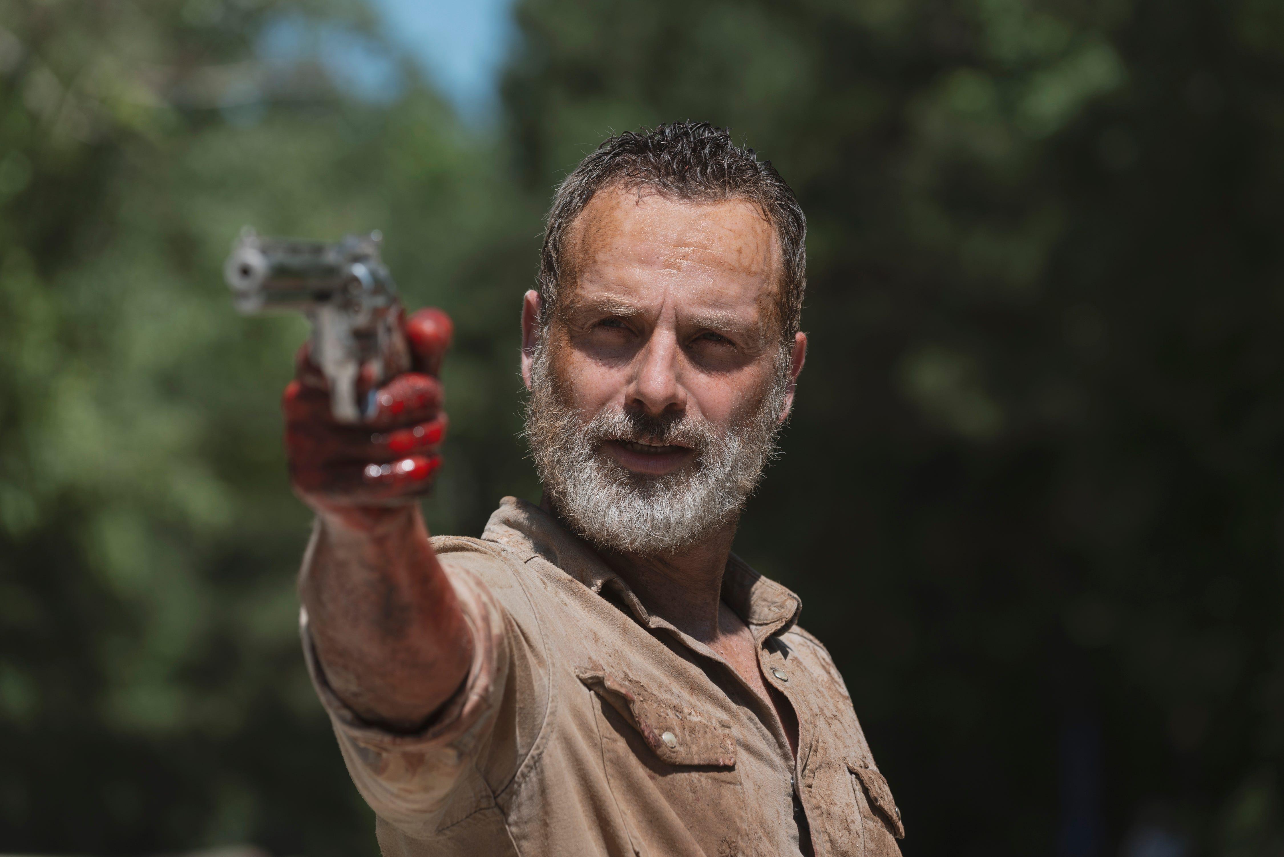 Rick on The Walking Dead: