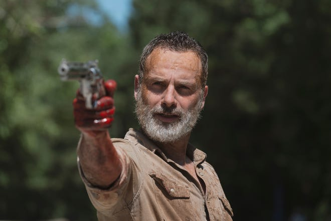 Rick Grimes (Andrew Lincoln) makes his last stand on 'The Walking Dead' Sunday in the final episode for the character and the actor who has played him for nine seasons.