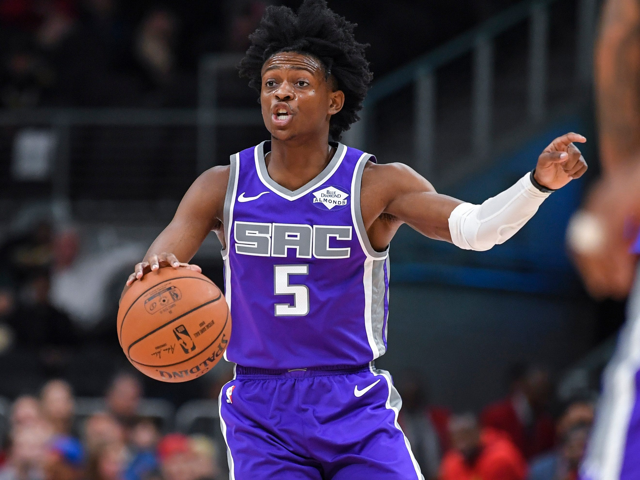 8. De'Aaron Fox, Kings (Nov. 1): 31 points, 15 assists, 10 rebounds in 146-115 win over Hawks.