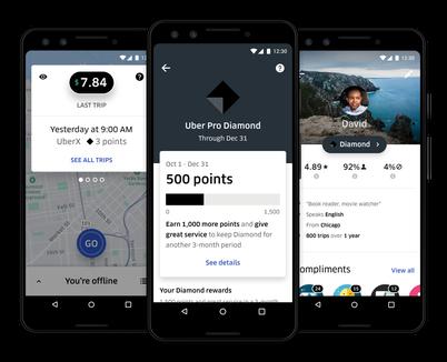 Uber Pro app.