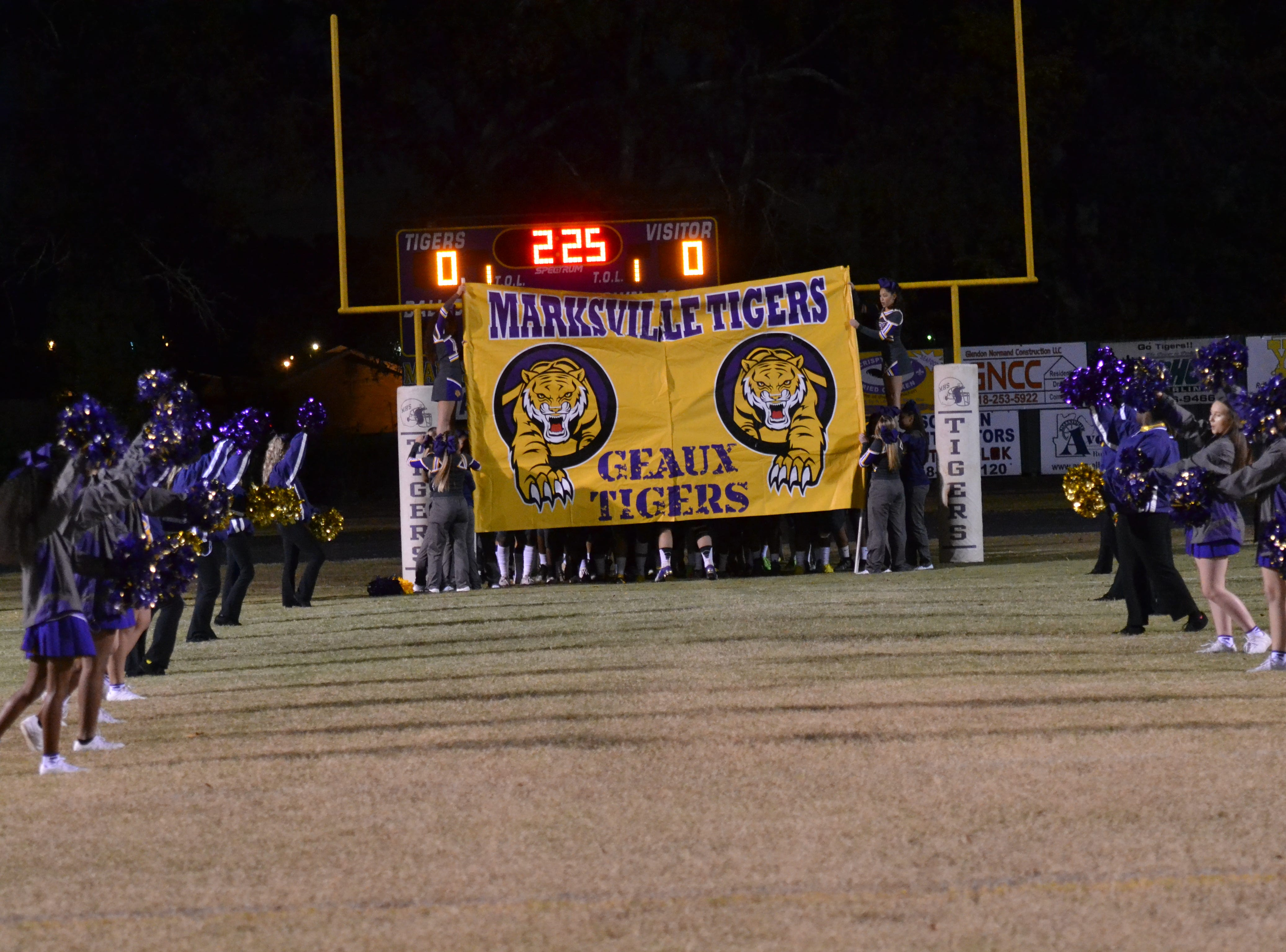 The Marksville Tigers get ready to take on Caldwell Friday night in the season finale at Marksville. Caldwell won the game 13-8.