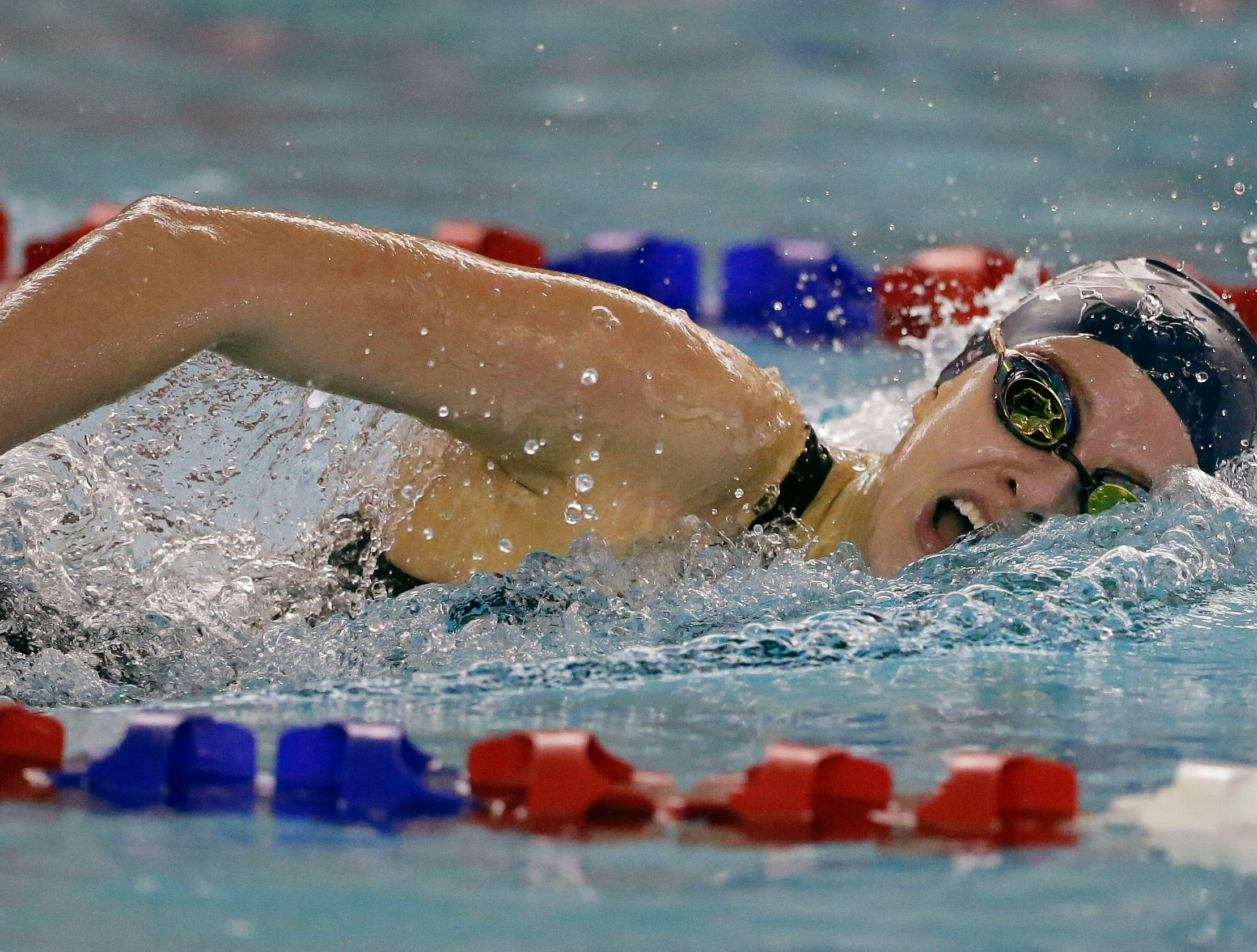 Emma Lasecki of Bay Port swims the 200 Yard IM as the WIAA Division 1 swimming sectional meet takes place Saturday, November 3, 2018, at Neenah High School in Neenah, Wis. Winners advanced to state.Ron Page/USA TODAY NETWORK-Wisconsin