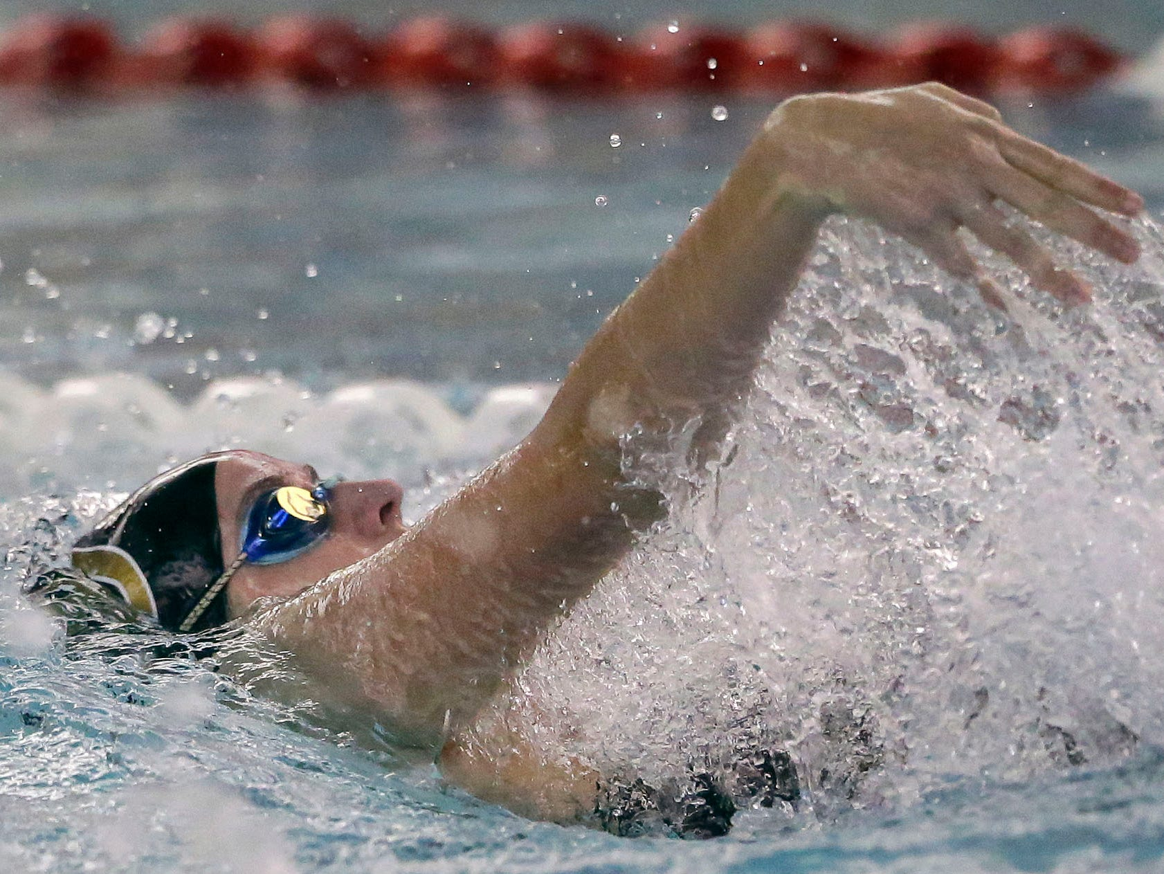 Brigitta Neverman of Green Bay SW swims the 100 Yard Backstroke as the WIAA Division 1 swimming sectional meet takes place Saturday, November 3, 2018, at Neenah High School in Neenah, Wis. Winners advanced to state.Ron Page/USA TODAY NETWORK-Wisconsin