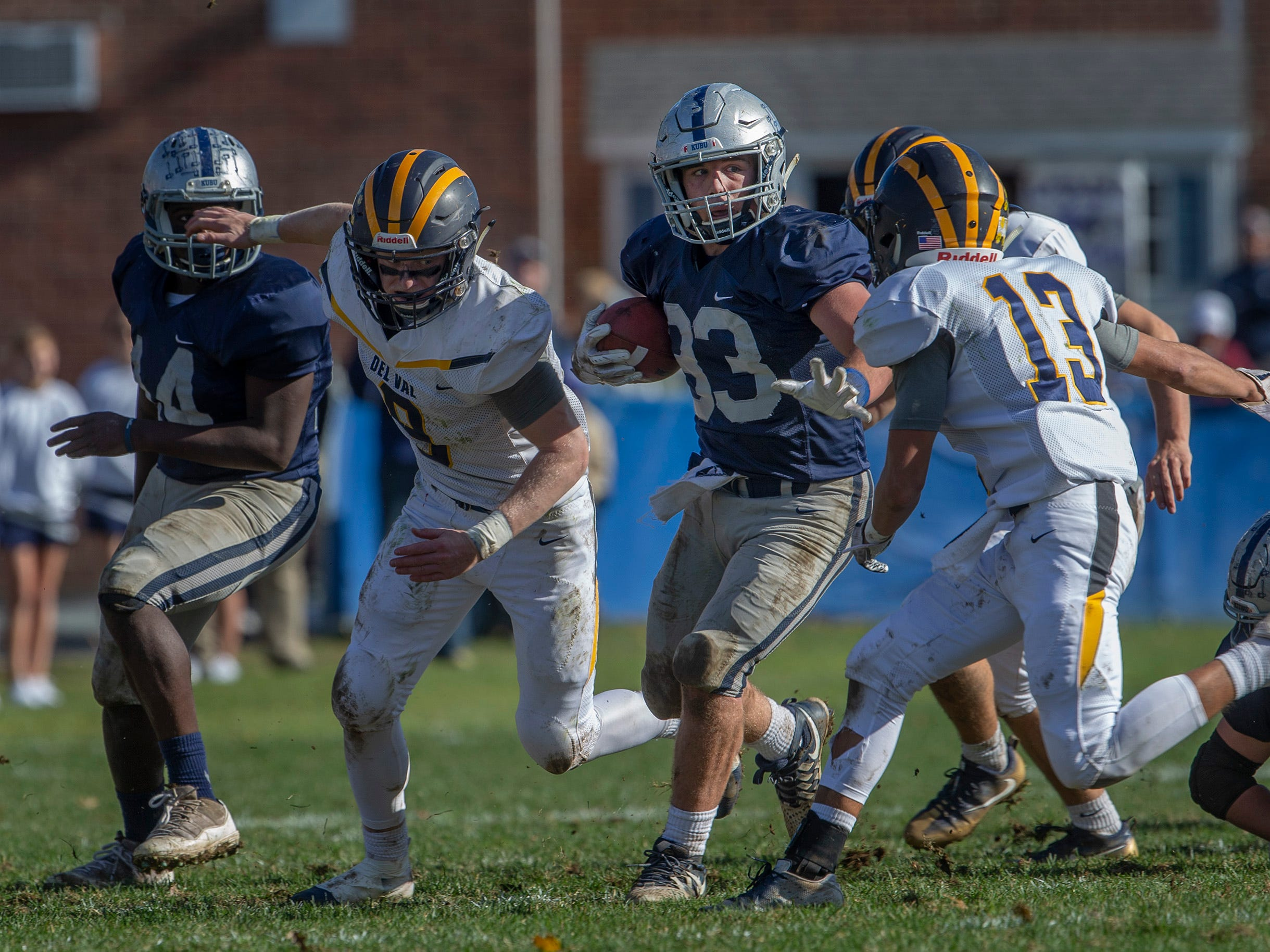 Manasquan Football buries Delaware Valley in NJSIAA opening round game in Manasquan NJ. On November 3, 2018.