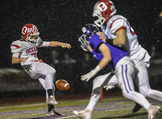 Ocean at Rumson-Fair Haven in the NJSIAA Central Group III quarterfinal playoff game in Rumson on Nov. 2, 2018.