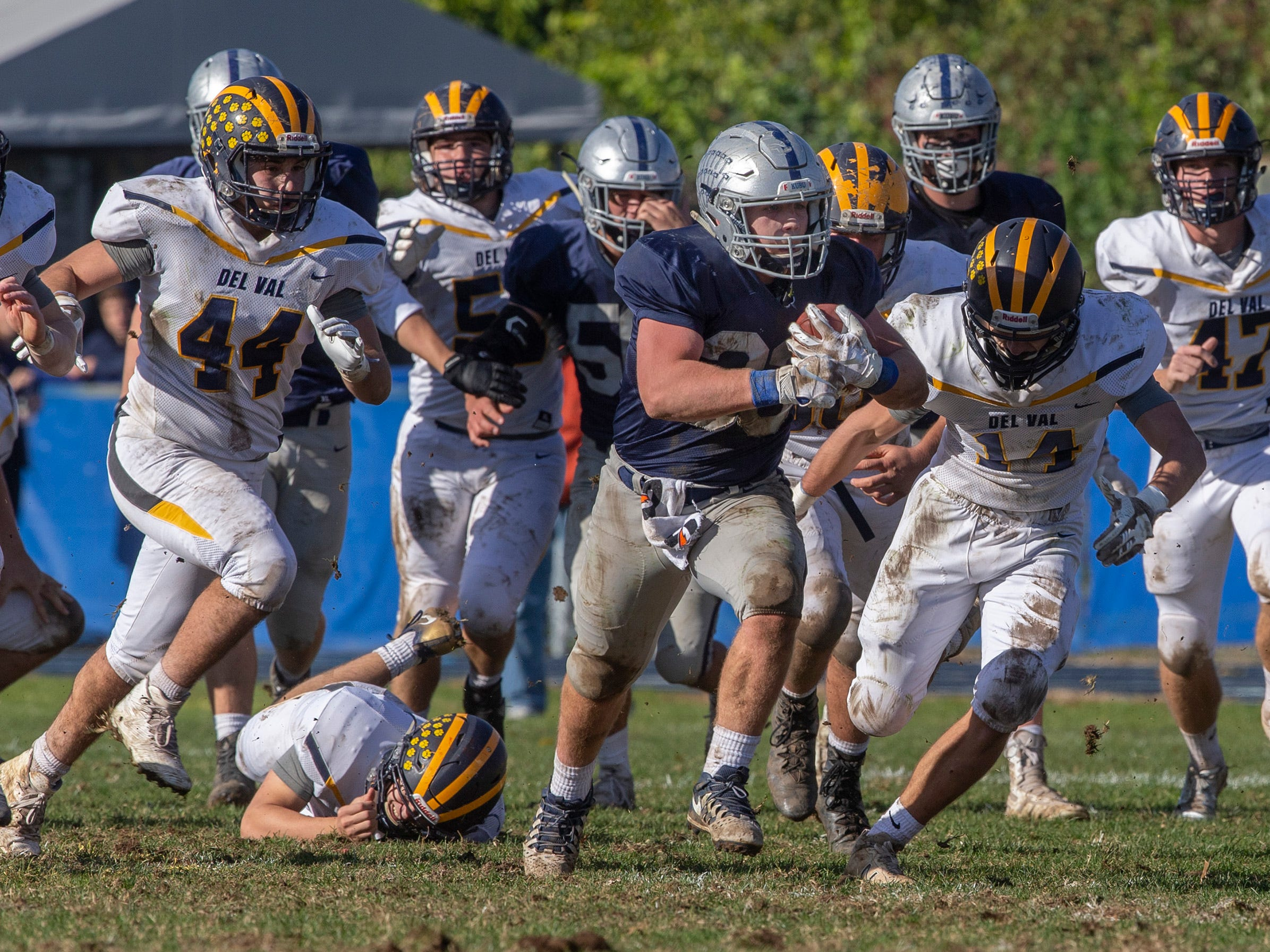 Manasquan Football buries Delaware Valley in NJSIAA opening round game in Manasquan NJ. On November 3, 2018.