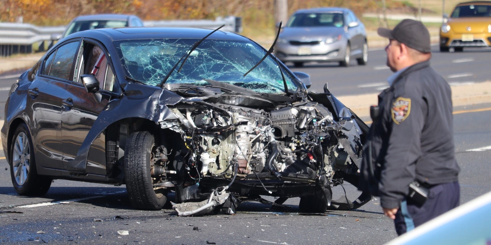 Road Closed  One Hospitalized After Car Crash In Brick