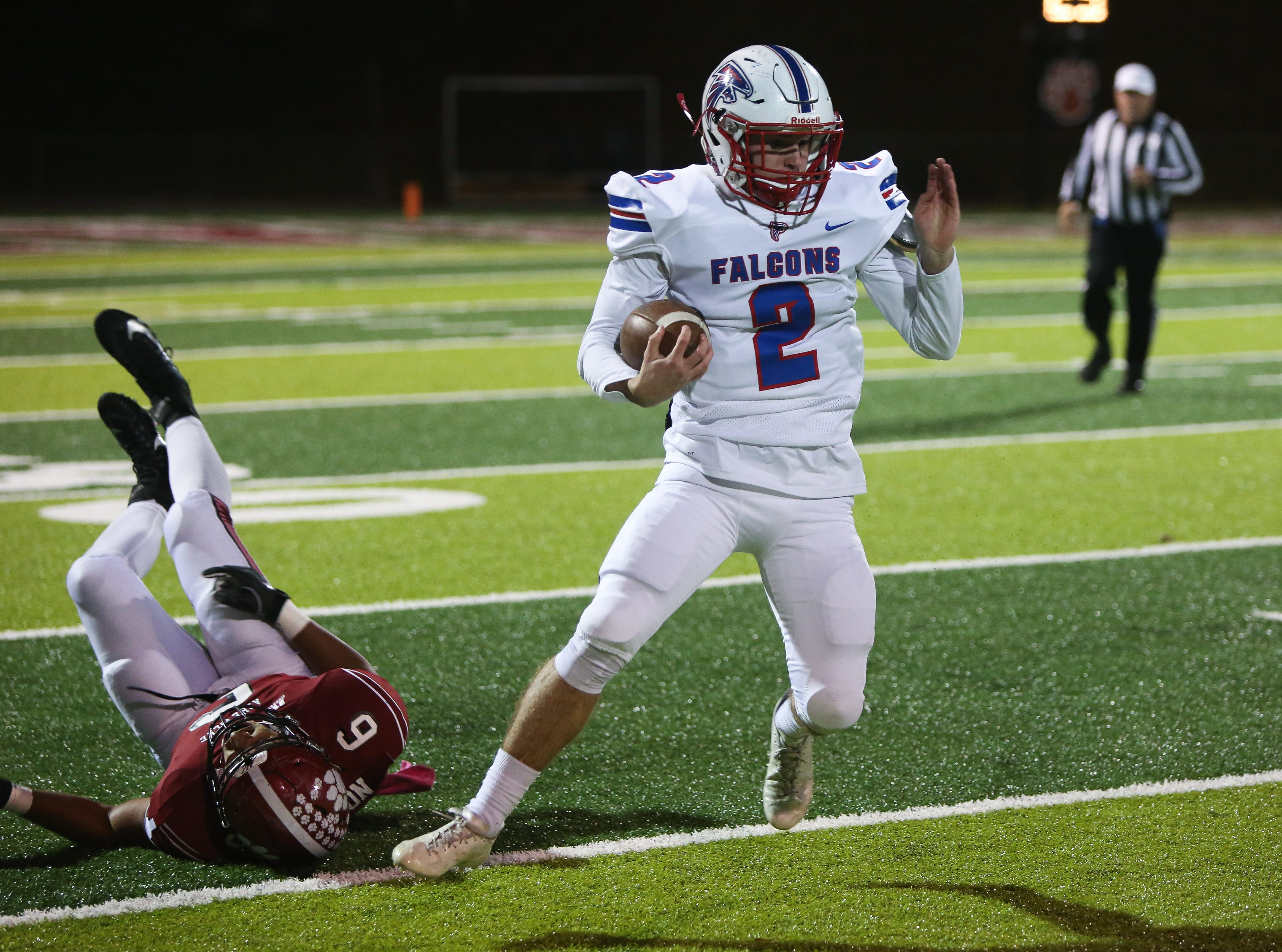 Asheville High faced off against West Henderson on Nov. 2, 2018 at Asheville.  Asheville took the win with a final score of 24-13.