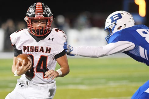 Pisgah defeated Brevard 21-7 to win the Mountain Six Conference title in Brevard Nov. 2, 2018.