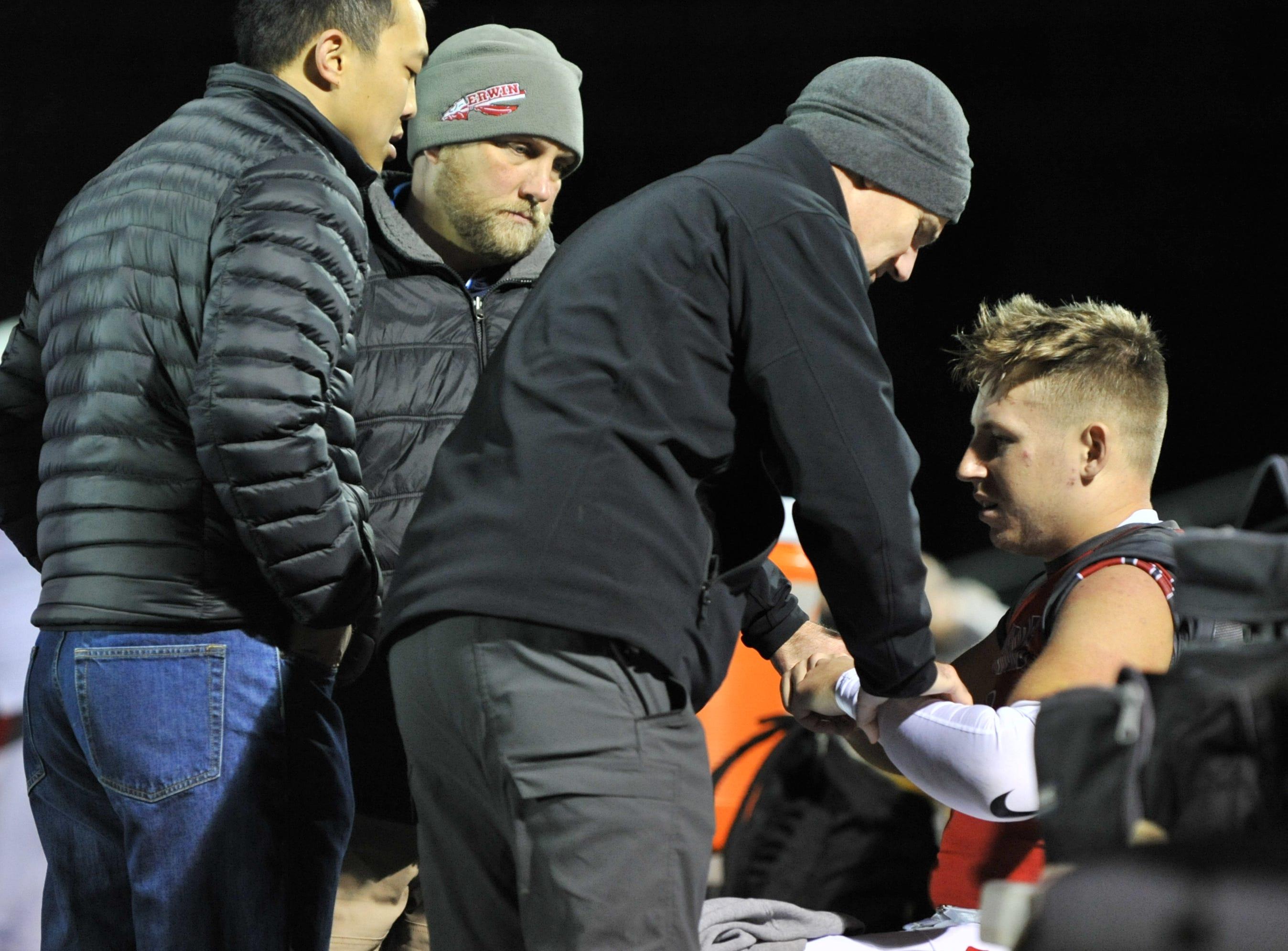 Scenes from Erwin's 43-0 win over Tuscola on Nov. 2, 2018.