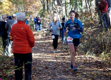"""The Shut-In Ridge Trail Race for 2018 took place Saturday, Nov. 3. The race along the Blue Ridge Parkway began at the North Carolina Arboretum and ended at Mount Pisgah. The 17.8-mile route is touted as """"one of Asheville's most iconic and grueling trails."""" Learn more atshutintrailrace.com."""