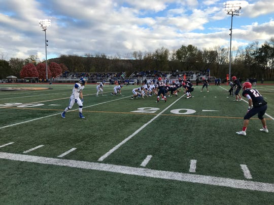 Action from Saturday's Section 4 Class B football final.