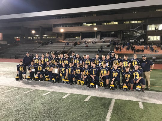 Section 4 Class D football champions, again! Tioga Central.