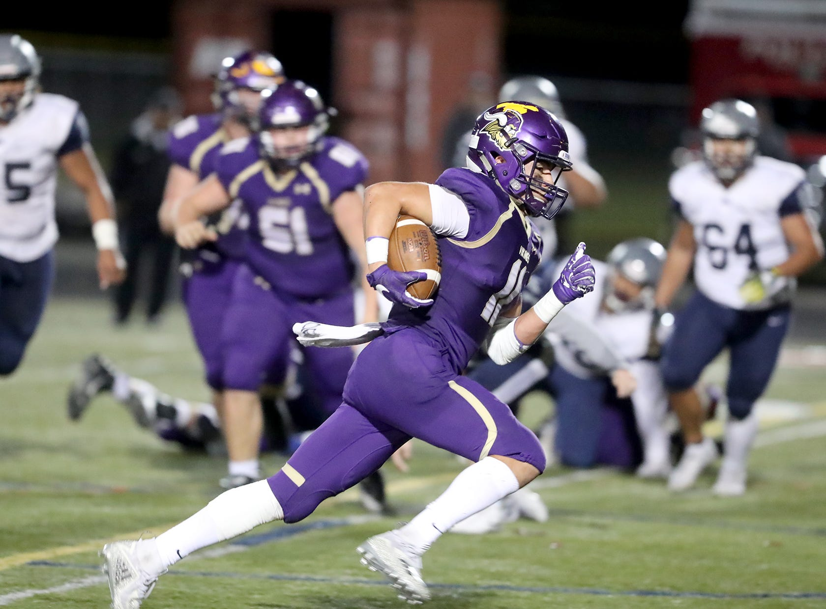 The North Kitsap Vikings defeated River Ridge in a West Central District playoff game at North Kitsap on Friday, November 2, 2018.