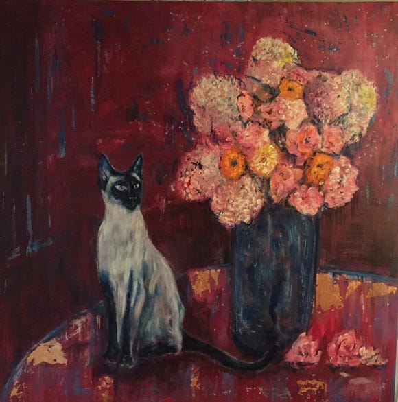 """Menagerie,"" a show of animal-centric paintings by Steven Fogell, is on display during November at Coldwell Banker Bain on Bainbridge Island."