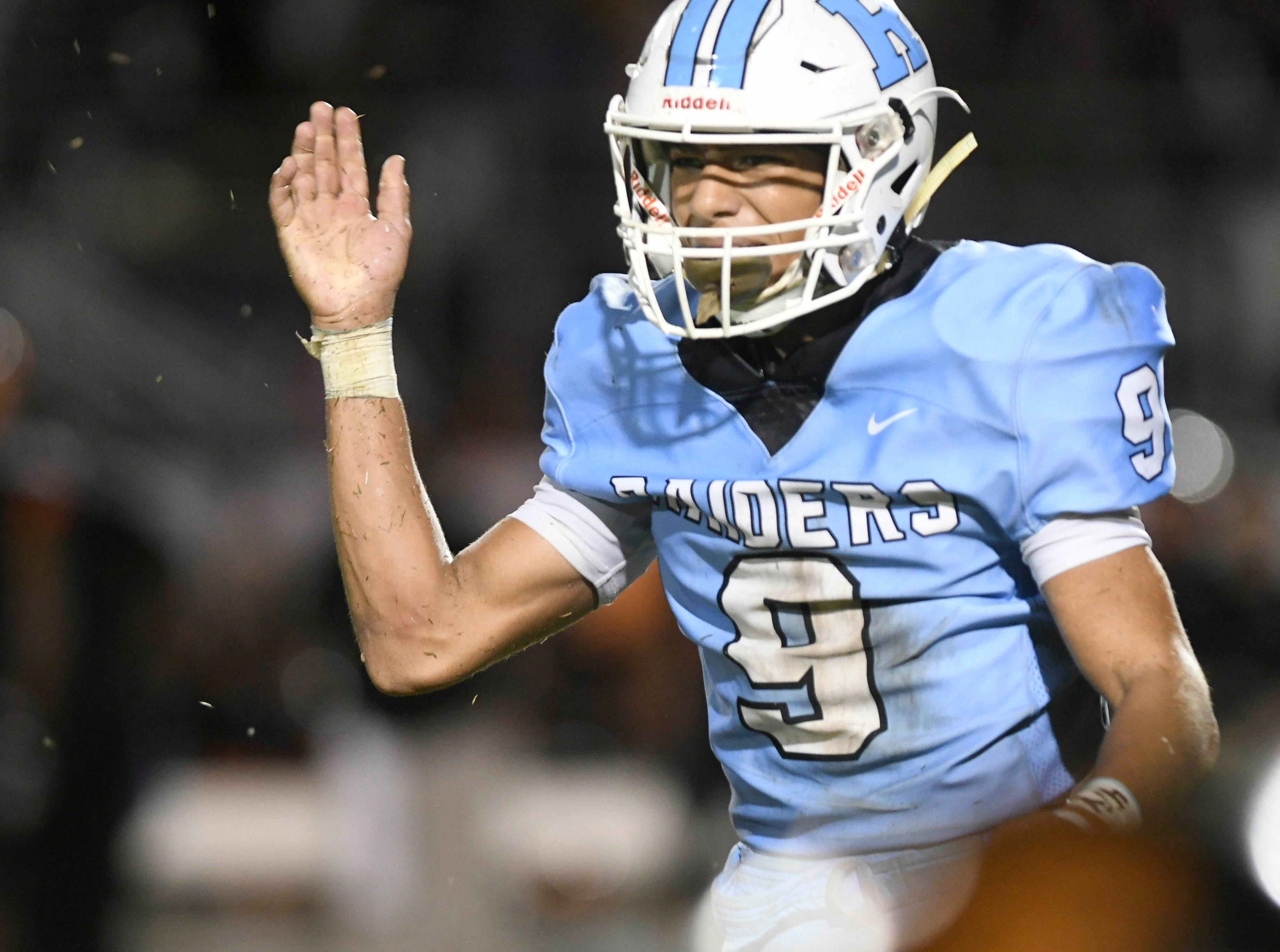 OC Brothers of Rockledge celebrates a defensive stop during Friday's game.