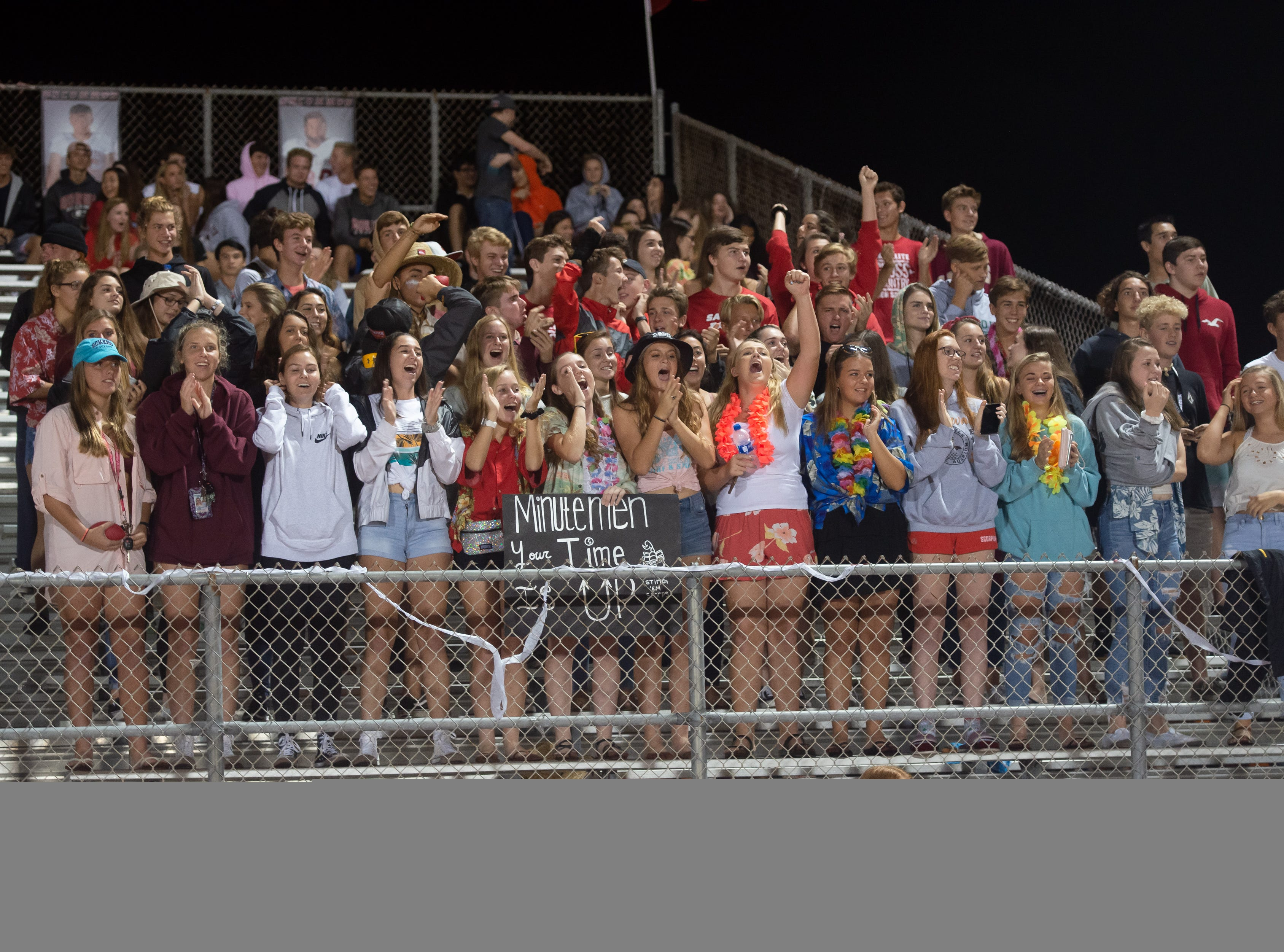 Satellite High fans cheer during the game against Cocoa Beach.