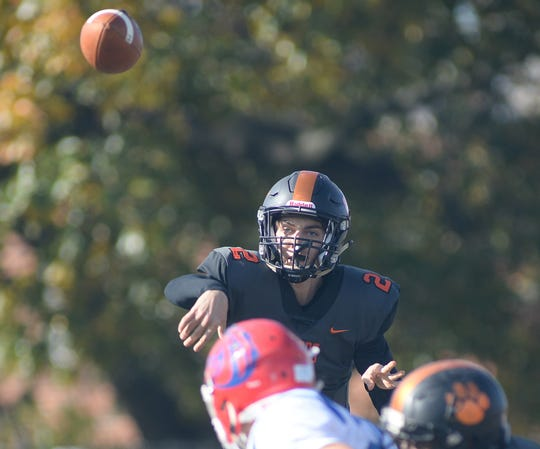 Woodrow Wilson quarterback Nick Kargman throws a pass during Saturday's South Jersey Group 3 first round game against Triton at Woodrow Wilson High School, Nov. 3, 2018.