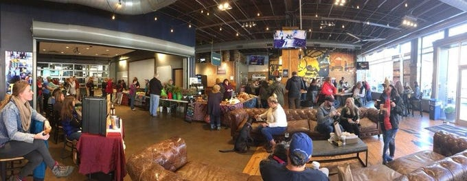 The scene on Saturday, Nov. 3, as the Covington Farmers Market returned for the second year to Braxton Brewing Co. for November and December Winter Markets.