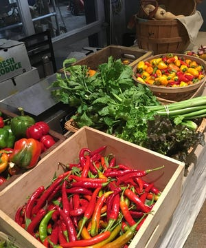 Produce on Saturday, Nov. 3, as the Covington Farmers Market returned for the second year to Braxton Brewing Co. for November and December Winter Markets.