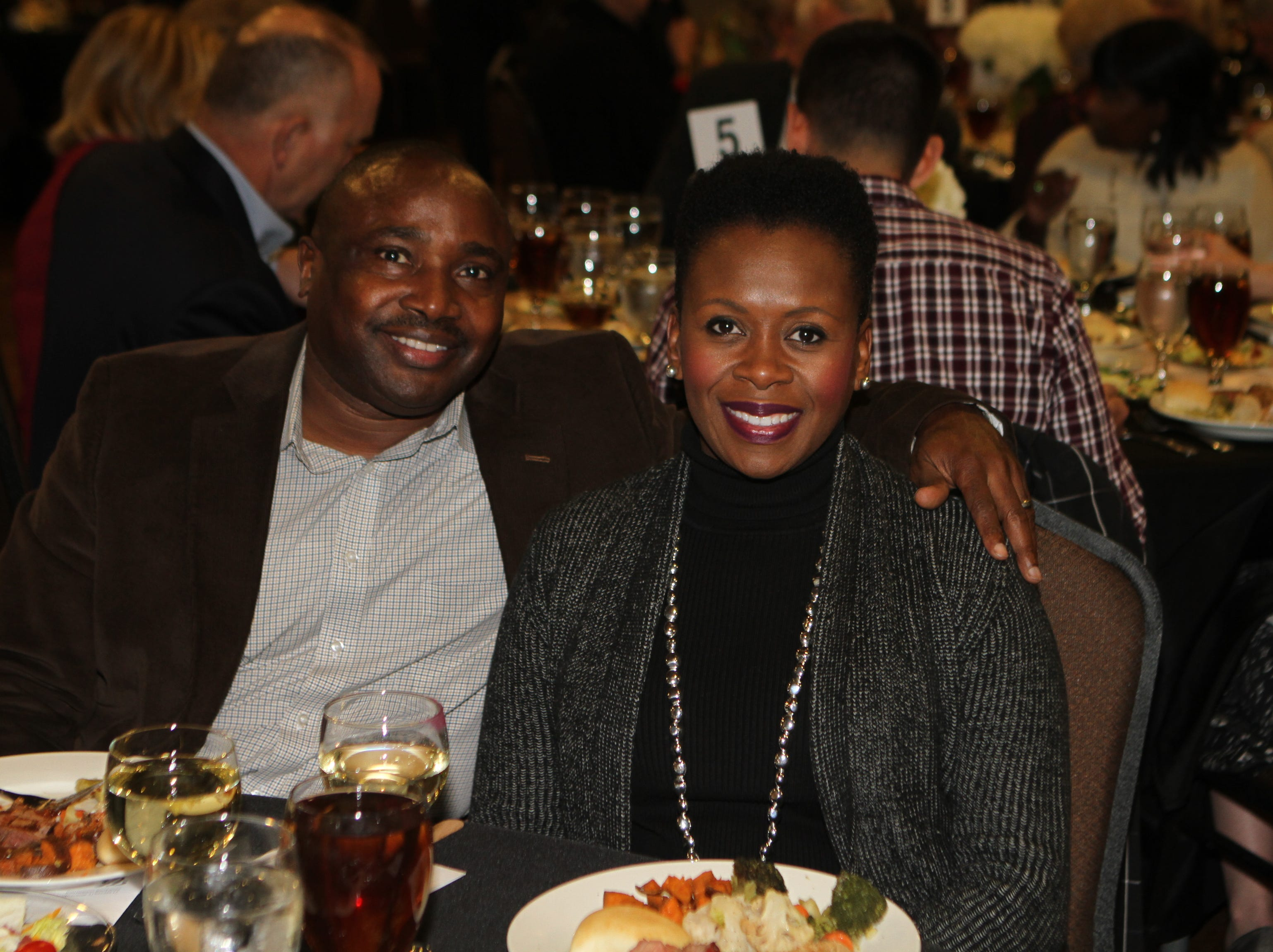 Oneal and Kimberly Wiggins at CMC Education Foundation's annual fundraiser Vision to Reality on Friday, November 2, 2018