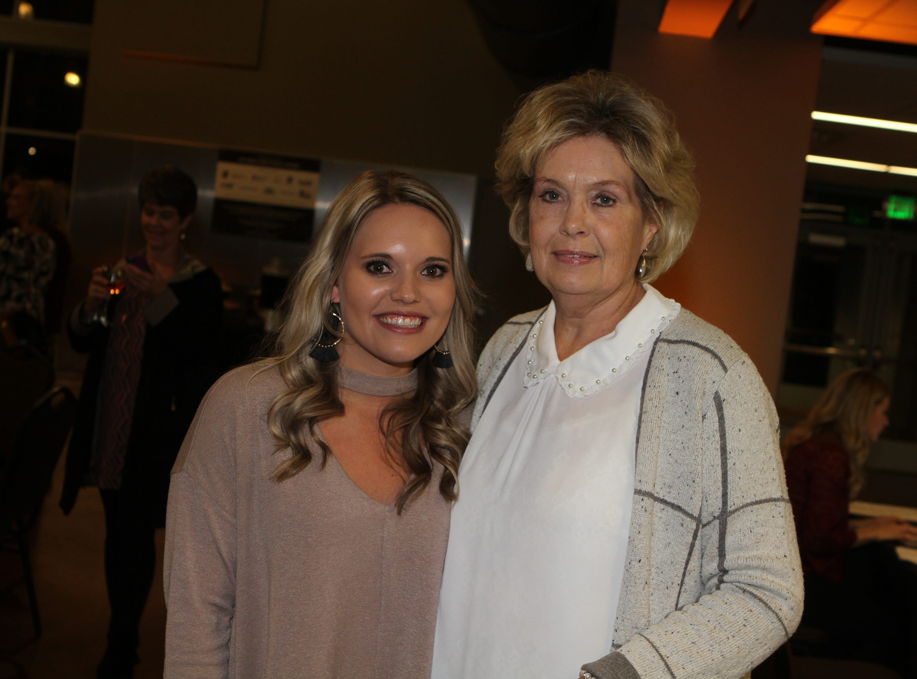 Haley Davis and Deb Cummings at CMC Education Foundation's annual fundraiser Vision to Reality on Friday, November 2, 2018