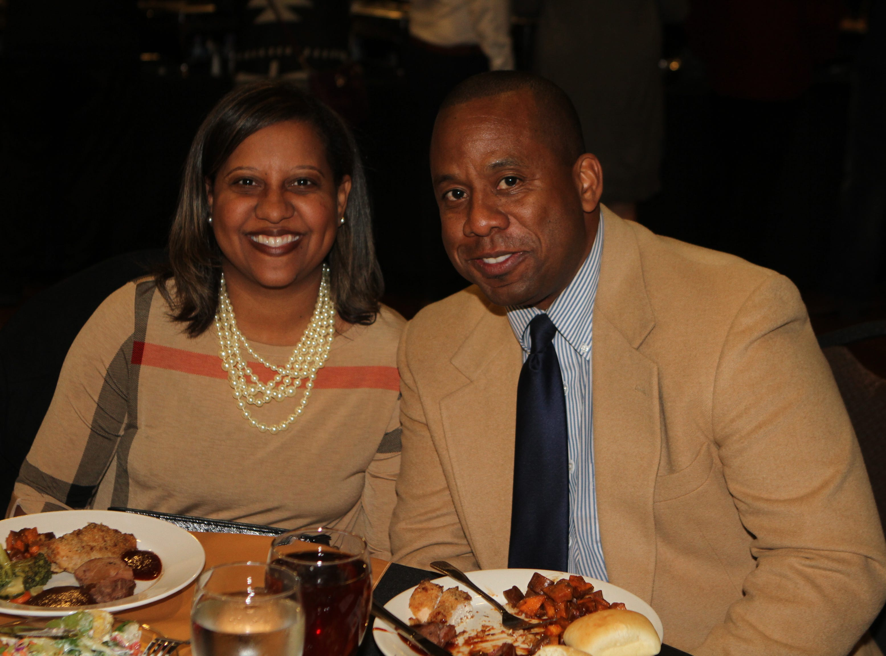 Kyla and Millard House II, CMCSS director of schools, at CMC Education Foundation's annual fundraiser Vision to Reality on Friday, November 2, 2018