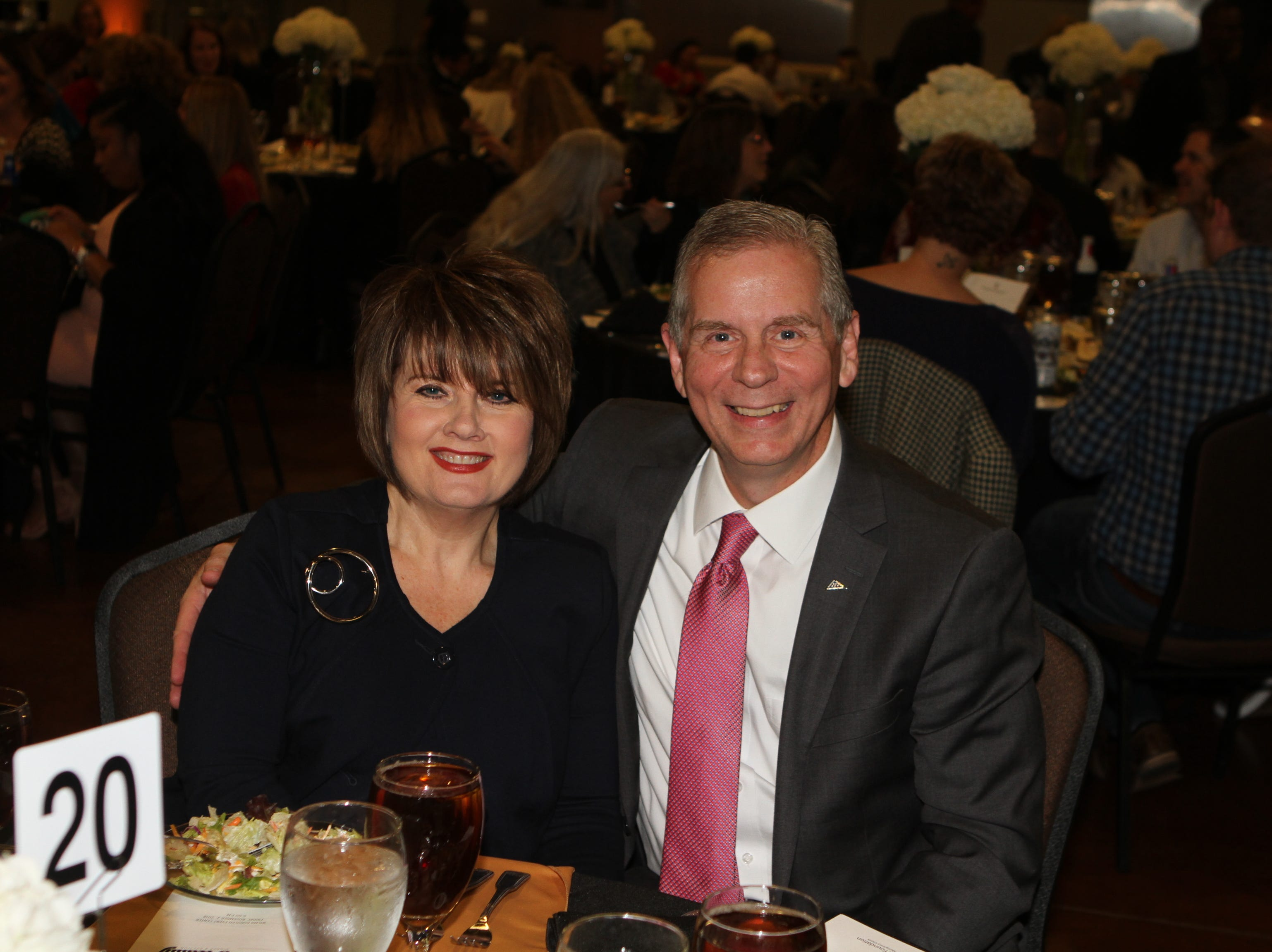 Cindy and Joe Pitts at CMC Education Foundation's annual fundraiser Vision to Reality on Friday, November 2, 2018