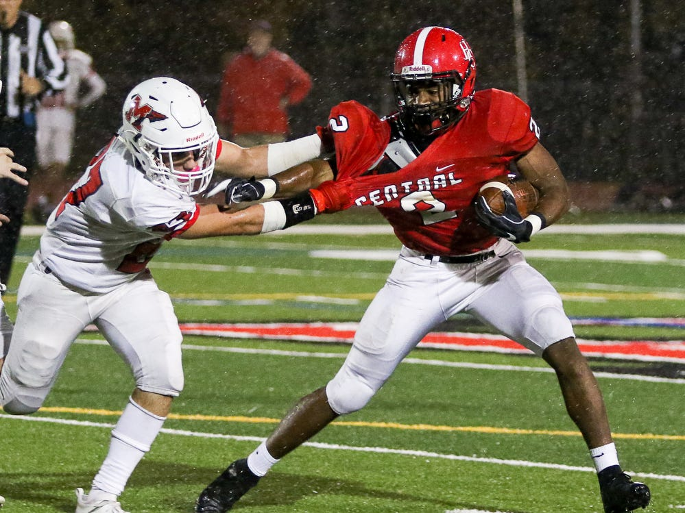 Manalapan at Hunterdon Central football during a Central Group V first round game on Friday, Nov. 2, 2018.