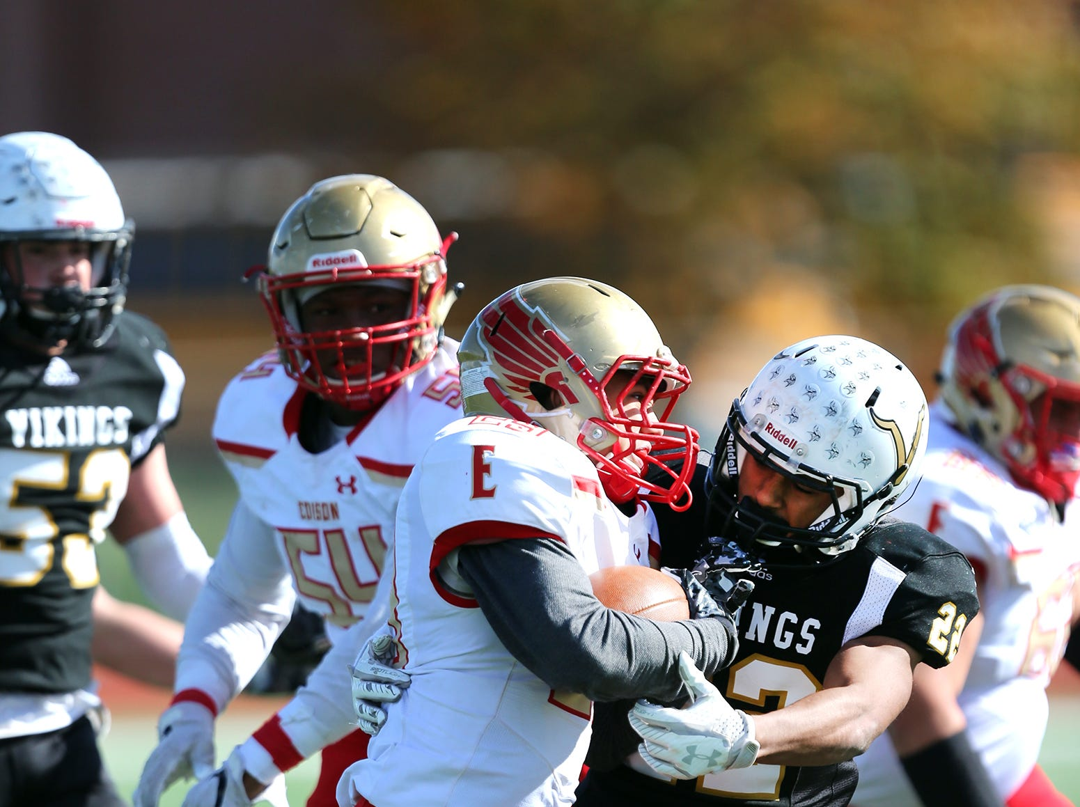 Edison at South Brunswick football in the first round of Central Group V.Saturday November 3, 2018 photo by Ed Pagliarini