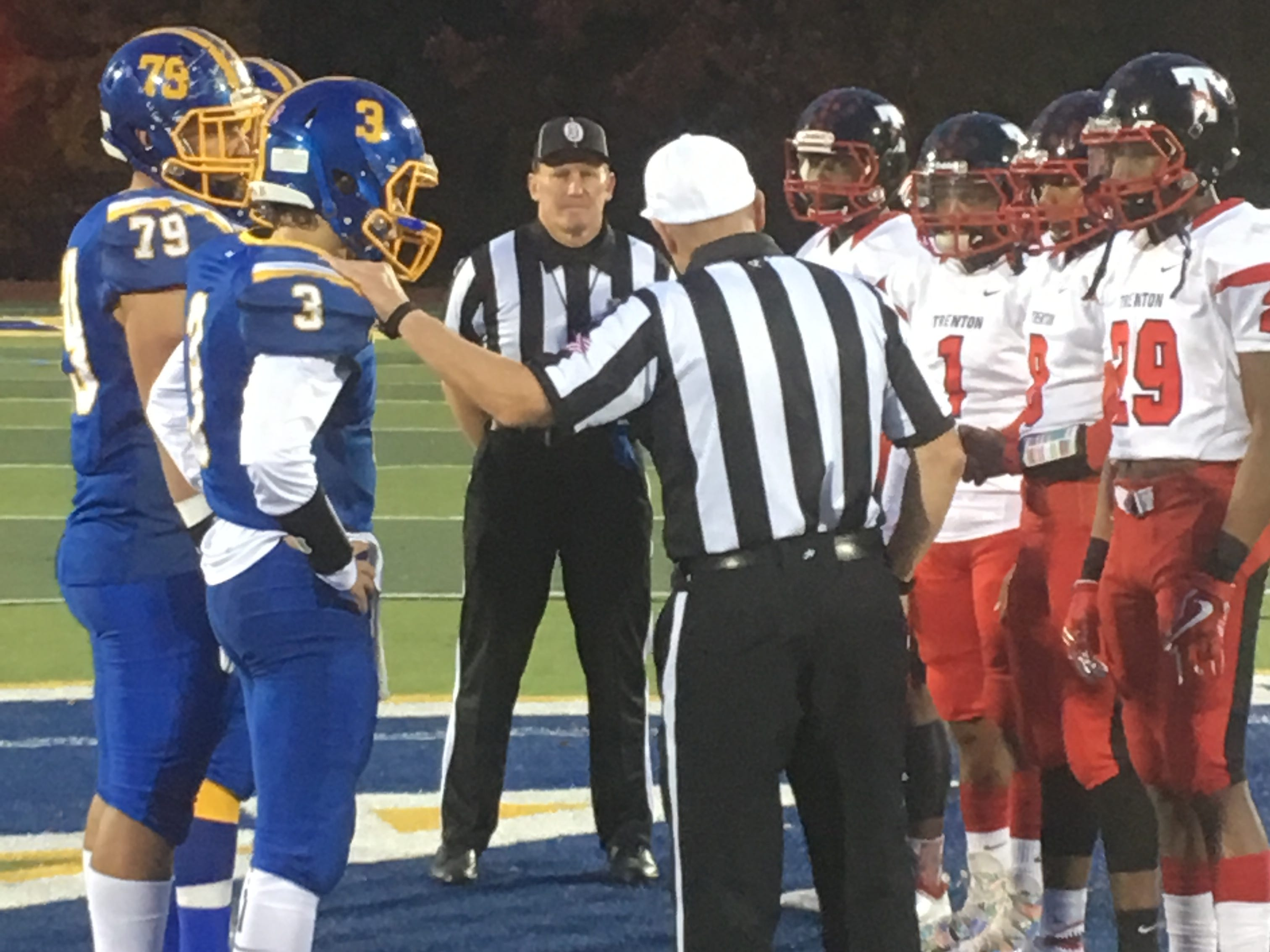 Trenton at North Brunswick football in Central Group V first round on Friday, Nov. 2, 2018.