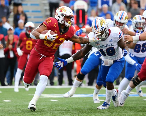 Ncaa Football Iowa State At Kansas