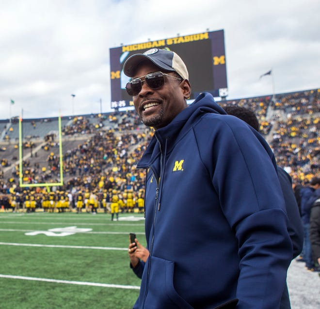 Former Michigan basketball player Chris Webber was back on campus Saturday.